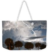 Palms And Lightning 3 Weekender Tote Bag