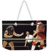 Pampero Firpo Vs Texas Red In Old School Wrestling From The Cow Palace  Weekender Tote Bag