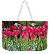 Panel Of Pink Tulips Weekender Tote Bag