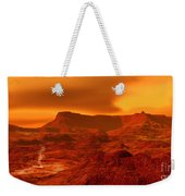 Panorama Of A Landscape On Venus At 700 Weekender Tote Bag
