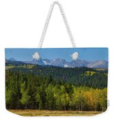 Panorama Scenic Autumn View Of The Colorado Indian Peaks Weekender Tote Bag