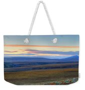 Panoramic At Sunset Along The Dempster Weekender Tote Bag