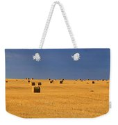 Panoramic Of A Straw Field, Near Val Weekender Tote Bag