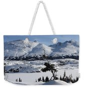 Panoramic Of An Unnamed Mountain Taken Weekender Tote Bag