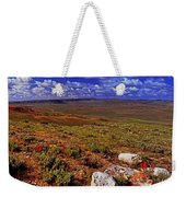 Panoramic View Of Fossil Butte Nm Valley Weekender Tote Bag