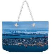 Panoramic View Of Tromso In Norway  Weekender Tote Bag