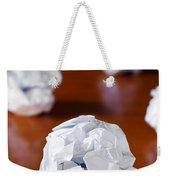 Paper Balls Weekender Tote Bag by Carlos Caetano