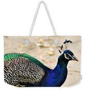 Parading Peacock Weekender Tote Bag
