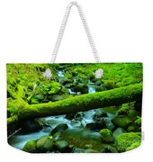 Paradise Of Mossy Logs And Slow Water   Weekender Tote Bag