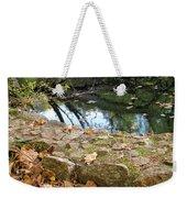 Paradise Springs Stone Wall Weekender Tote Bag