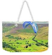 Paragliding Off Mam Tor 01 Weekender Tote Bag