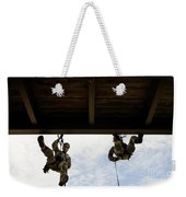 Pararescuemen Take Part In A Rappelling Weekender Tote Bag