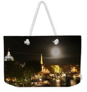 Paris At Night Weekender Tote Bag