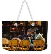 Paris At Night In The Cafe Weekender Tote Bag