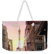 Paris Eiffel Tower Weekender Tote Bag