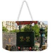 Paris Metro 3 Weekender Tote Bag