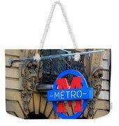 Paris Metro 5 Weekender Tote Bag