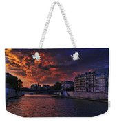 Paris Sundown Weekender Tote Bag