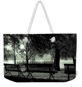 Park Benches In Autumn Weekender Tote Bag