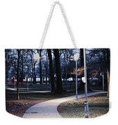 Park Path At Dusk Weekender Tote Bag