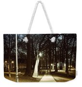 Park Path At Night Weekender Tote Bag by Elena Elisseeva