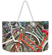 Parking Bicycles In Mako Weekender Tote Bag
