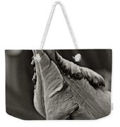 Parrot Tulip In Black And White Weekender Tote Bag