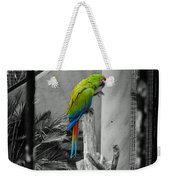 Parrott Thro The Cage Weekender Tote Bag