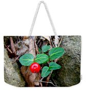 Partridge Berry Berry - Mitchella Repens Weekender Tote Bag