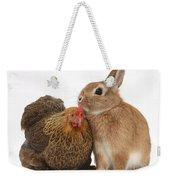 Partridge Pekin Bantam With Rabbit Weekender Tote Bag