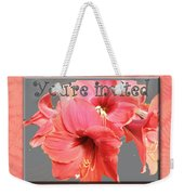 Party Invitation - Amaryllis Flowers Weekender Tote Bag