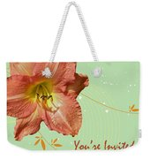 Party Invitation - Orange Day Lily Weekender Tote Bag