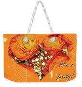 Party Invitation - Orange Roses Weekender Tote Bag
