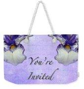Party Invitation - General - Wild Iris - Blue Flag Weekender Tote Bag