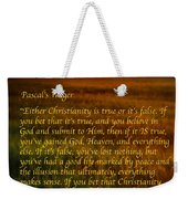 Pascal's Wager Weekender Tote Bag