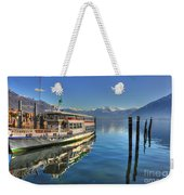Passenger Ship Reflected On The Water Weekender Tote Bag