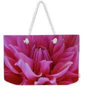 Pastel Pink Dahlia Weekender Tote Bag