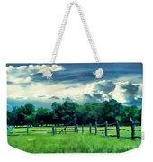 Pastoral Greenery Weekender Tote Bag by Lourry Legarde