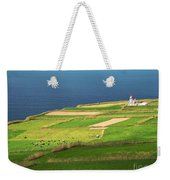 Pastures And Lighthouse Weekender Tote Bag