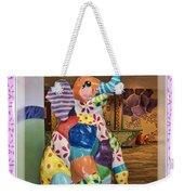Patchwork Elephant Weekender Tote Bag