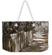 Path Along The Fence Weekender Tote Bag