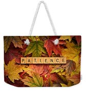 Patience-autumn Weekender Tote Bag