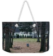 Patio View Of An Autumn Day Weekender Tote Bag