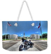 Patriot Guard Rider At The Houston National Cemetery Weekender Tote Bag