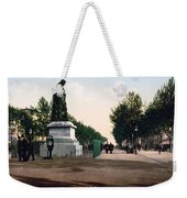 Paul Riquet Statue And The Allees In Beziers - France Weekender Tote Bag