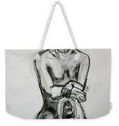 Paula - Charcoal Life Drawing Weekender Tote Bag