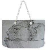 Paw-paw In Wooden Bowl Weekender Tote Bag