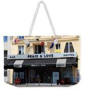 Peace And Love Hostel Weekender Tote Bag
