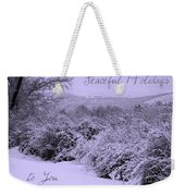 Peaceful Holidays To You Weekender Tote Bag
