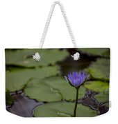 Peaceful Waterlily Weekender Tote Bag